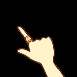 絆創膏を貼った指