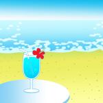 海と飲み物