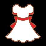 白×赤のワンピース