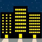 ビル街(夜)