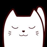 目を閉じている白猫