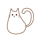 ふっくらしてる白猫