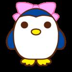 リボンをつけたペンギン