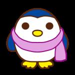 マフラーを巻いたペンギン