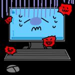 ウイルスにかかったパソコン