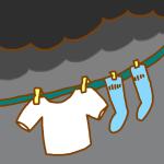 曇った日の洗濯