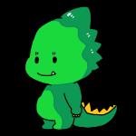 可愛い顔の恐竜
