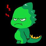 怒ってる顔の恐竜