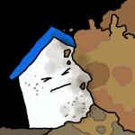 家が土砂崩れ!