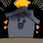 家が落雷!